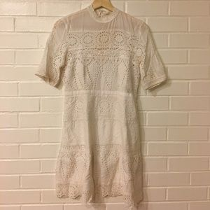 Anthropologie Eyelet Dress Size 04